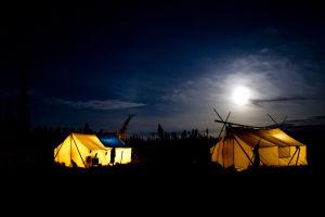 Willow Lake Camp at nighr
